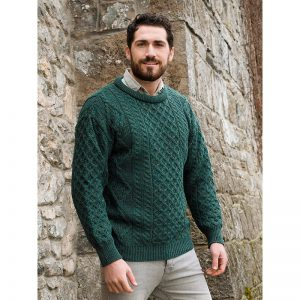 Aran Crafts Inis Mor Aran Crew Neck Sweater
