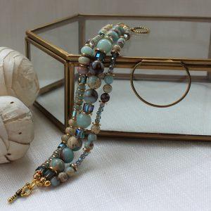 Salina Tripe Strand Bracelet By K Kajoux