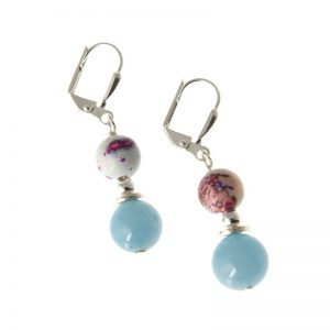 Whitehaven Stone Short Earrings By K Kajoux