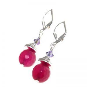 Punchy Pink Short Earrings By K Kajoux